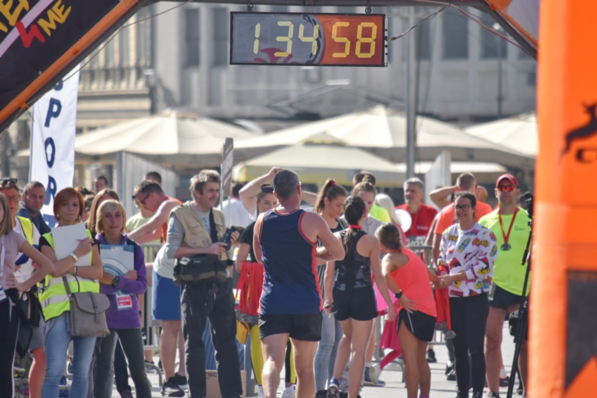 selesai, maraton, ras, olahraga, kompetisi, lomba lari kaki, pelari, orang-orang, atlet, jalan