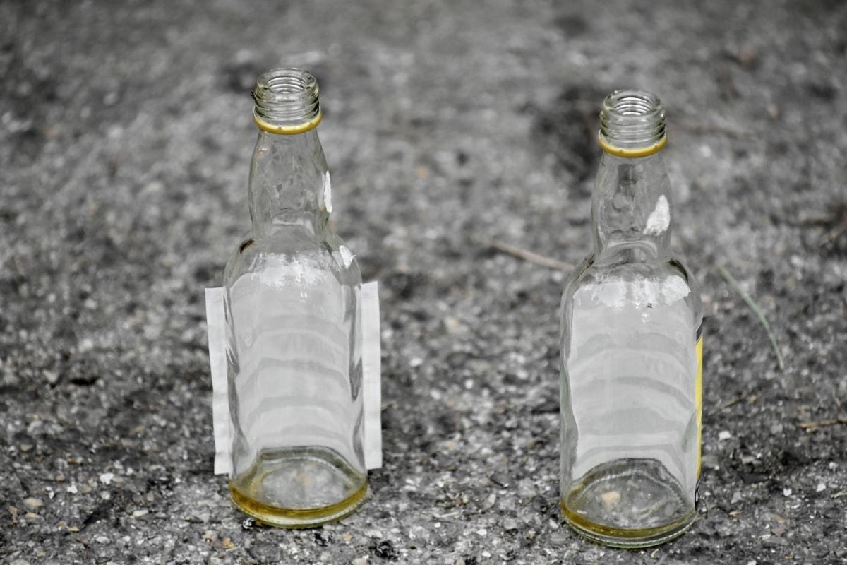 beholder, glass, flaske, kalde, resirkulering, søppel, tom, søppel, gjennomsiktig, Fjern