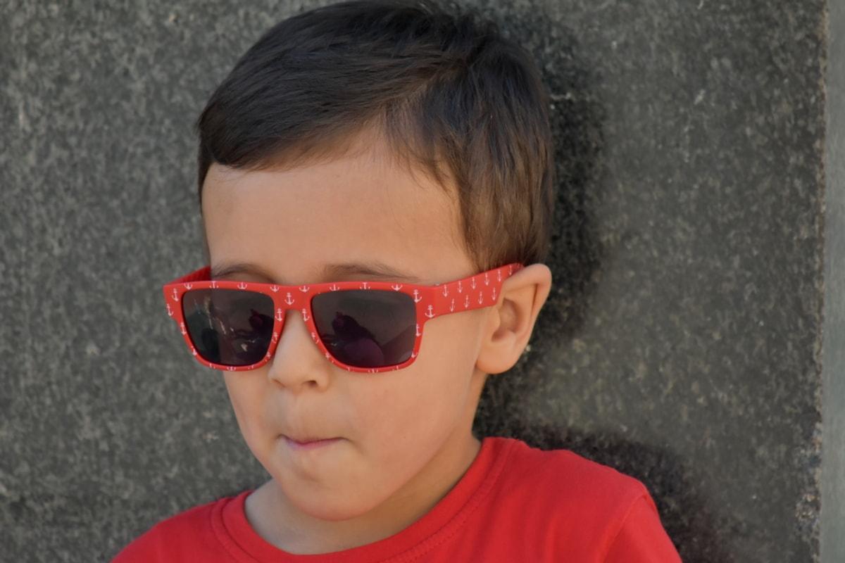 boy, eyeglasses, face, photo model, portrait, relaxation, child, youth, sunglasses, cute