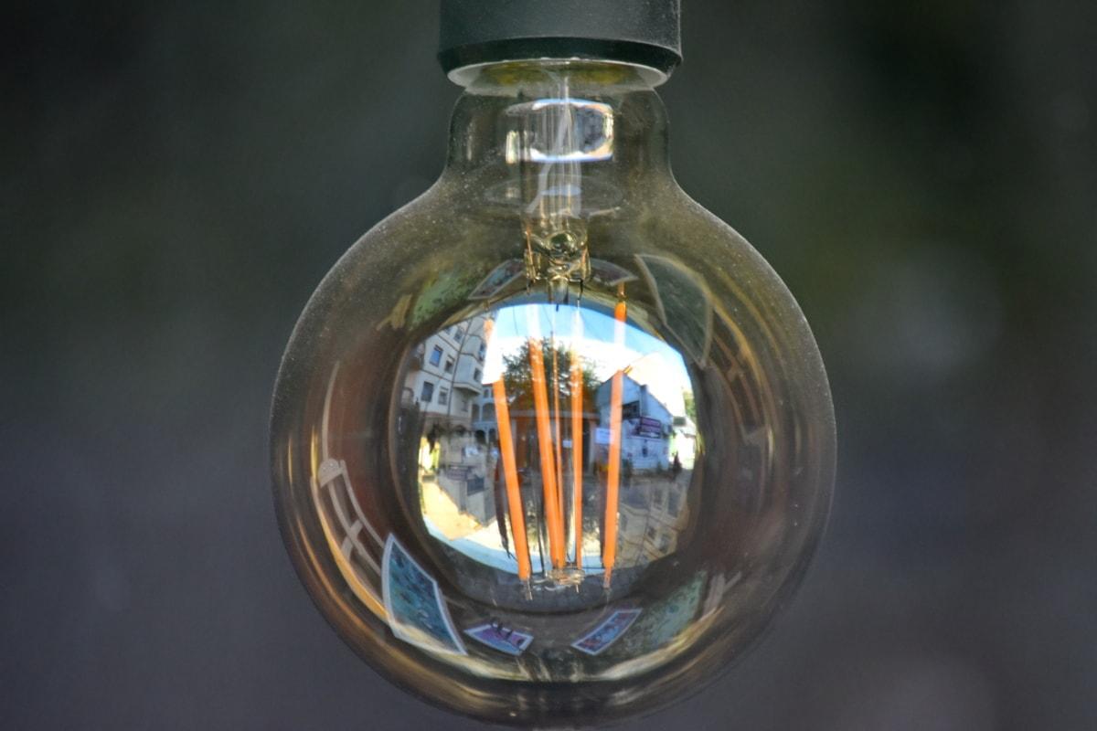 rincian, lampu, di luar rumah, diterangi, lampu, listrik, kaca, lama, alam, antik