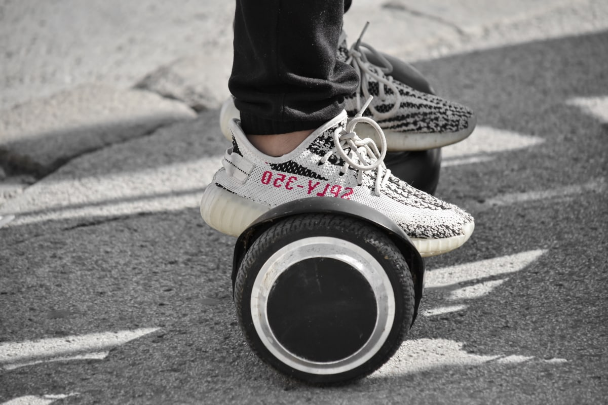 skateboarding, sneakers, technology, tire, asphalt, shoe, street, road, monochrome, wheel