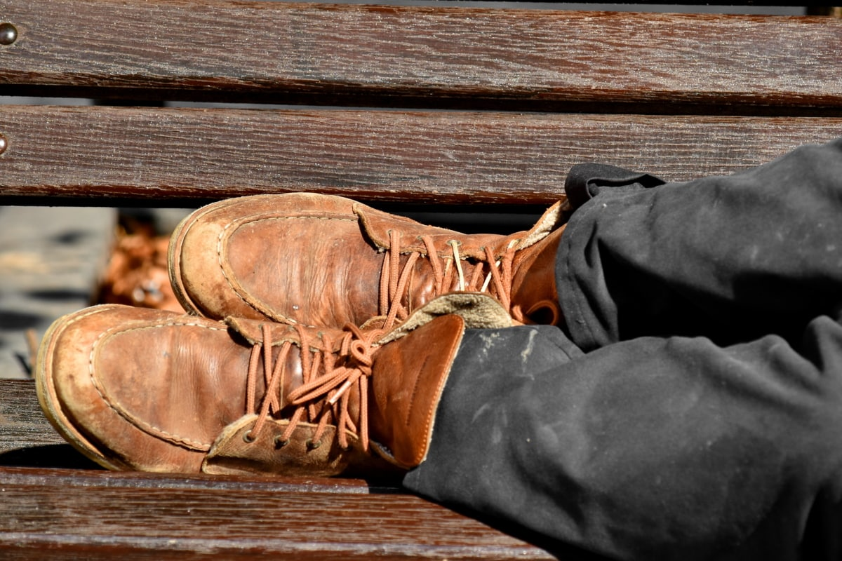 horizontal, old fashioned, shoelace, shoes, old, wood, leather, foot, footwear, vintage