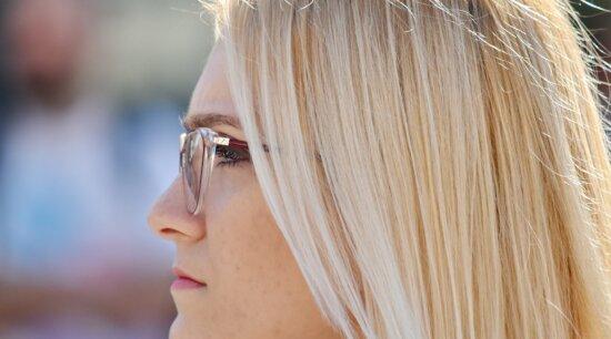 blonde hair, elegance, eyeball, eyeglasses, eyelashes, eyewear, gorgeous, woman, hair, fashion