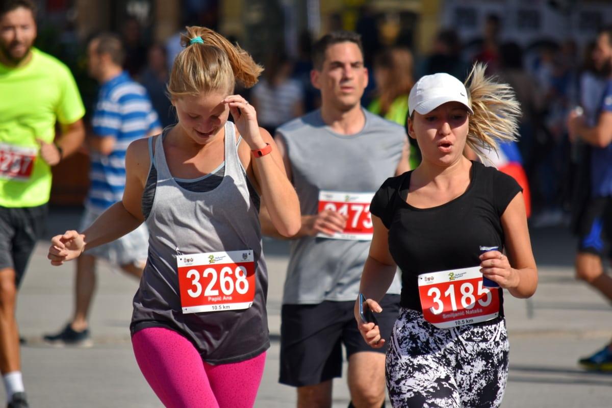 工数, 持久力, 終了, フィットネス, 徒競走, ジョギング, マラソン, 人々, レース, スポーツ