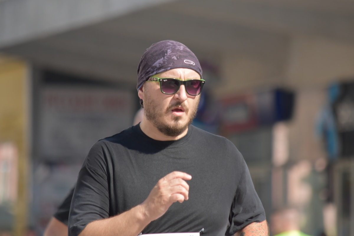 beard, effort, face, fitness, handsome, jogging, man, portrait, running, sport