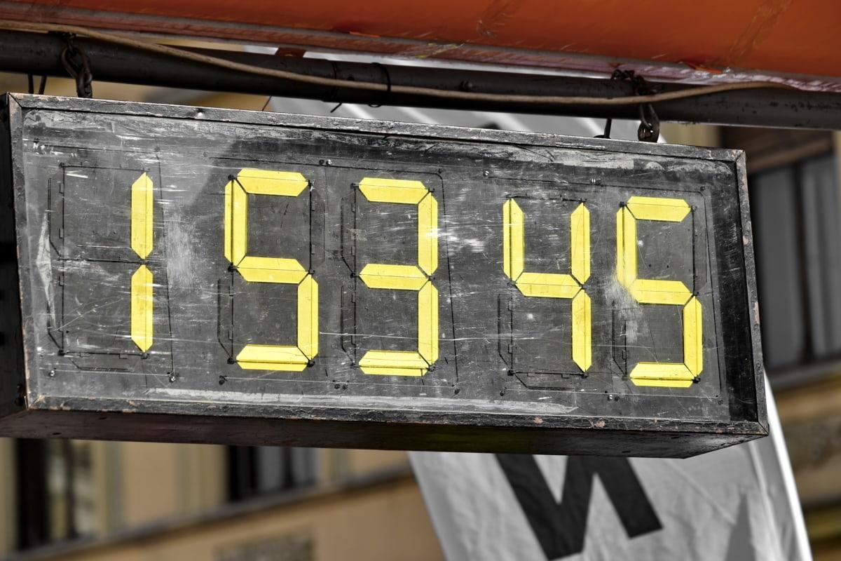 tejghea, numărul, timp, Timer, ceas, afişare, semn, textul, afaceri, vechi
