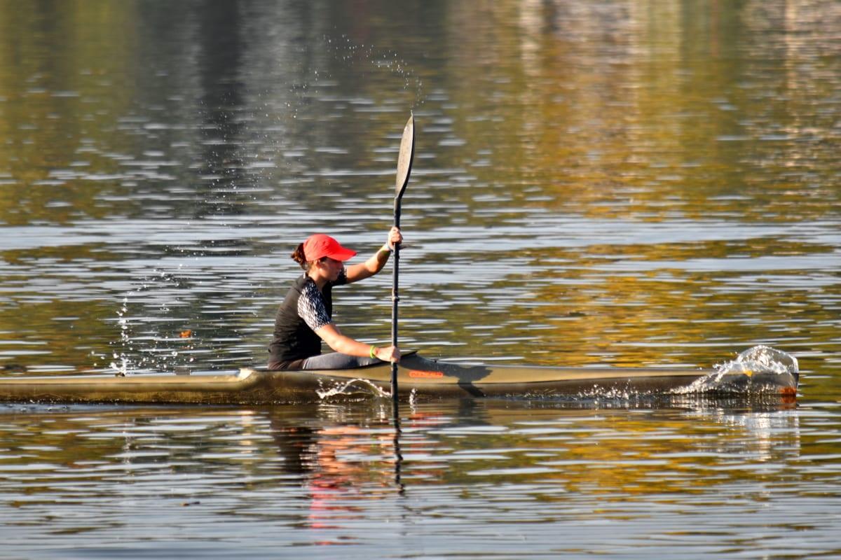 canotaj, Campionatul, rapid, finisaj, fată, Mişcarea, oar, apa, Lacul, Râul