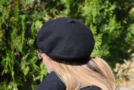 blonde hair, glamour, hat, pretty girl, side view, nature, outdoors, summer, park, woman