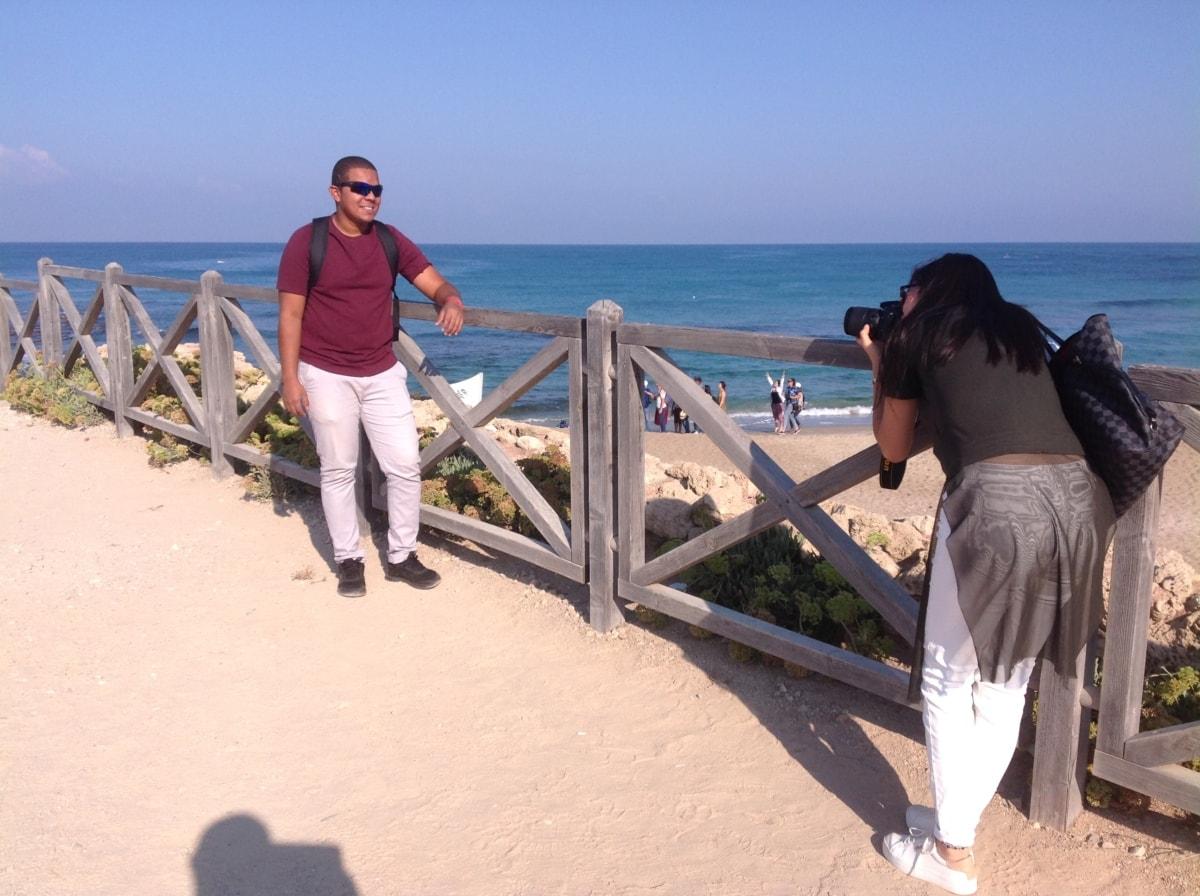 spiaggia, Costa, recinzione, foto modello, fotografo, verticale, estate, oceano, acqua, barriera