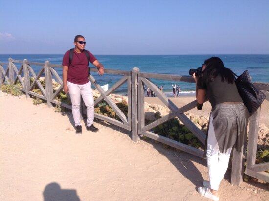 пляж, узбережжя, паркан, Фото моделі, фотограф, портрет, літній час, океан, води, бар'єр