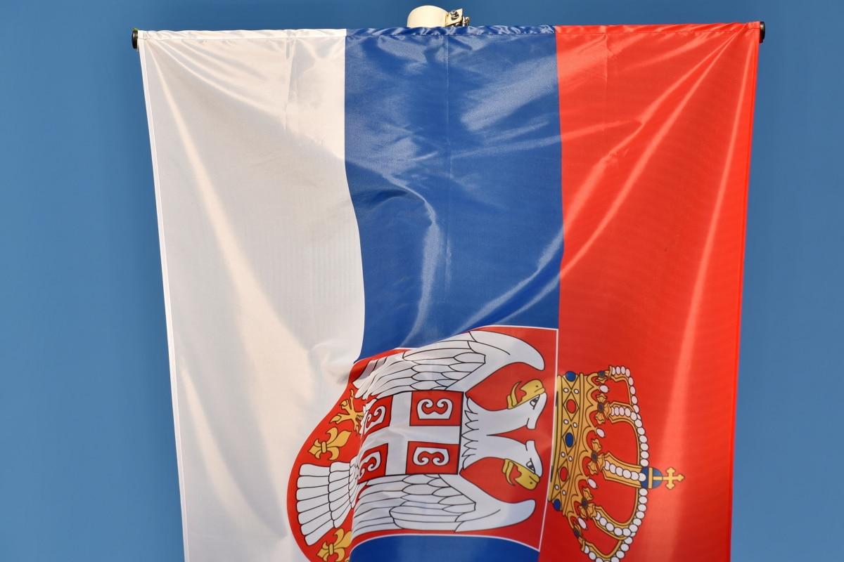 Корона, орел, нація, Сербія, Прапор, Патріотизм, Вітер, країна, шовк, банер