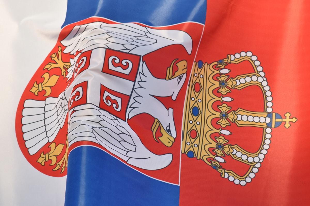 lerret, demokrati, demokratiske republikk, flagg, Storbritannia, Serbia, symbolet, enhet, patriotisme, patriotiske