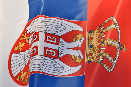democratic republic, flag, heritage, parliament, Serbia, symbol, emblem, national, patriotism, art