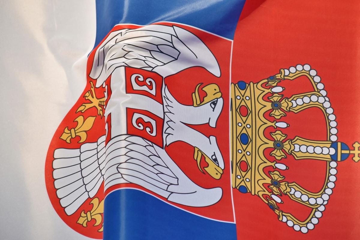 land, Europa, flagg, patriotisme, Serbia, tilstand, tricolor, emblem, kunst, symbolet