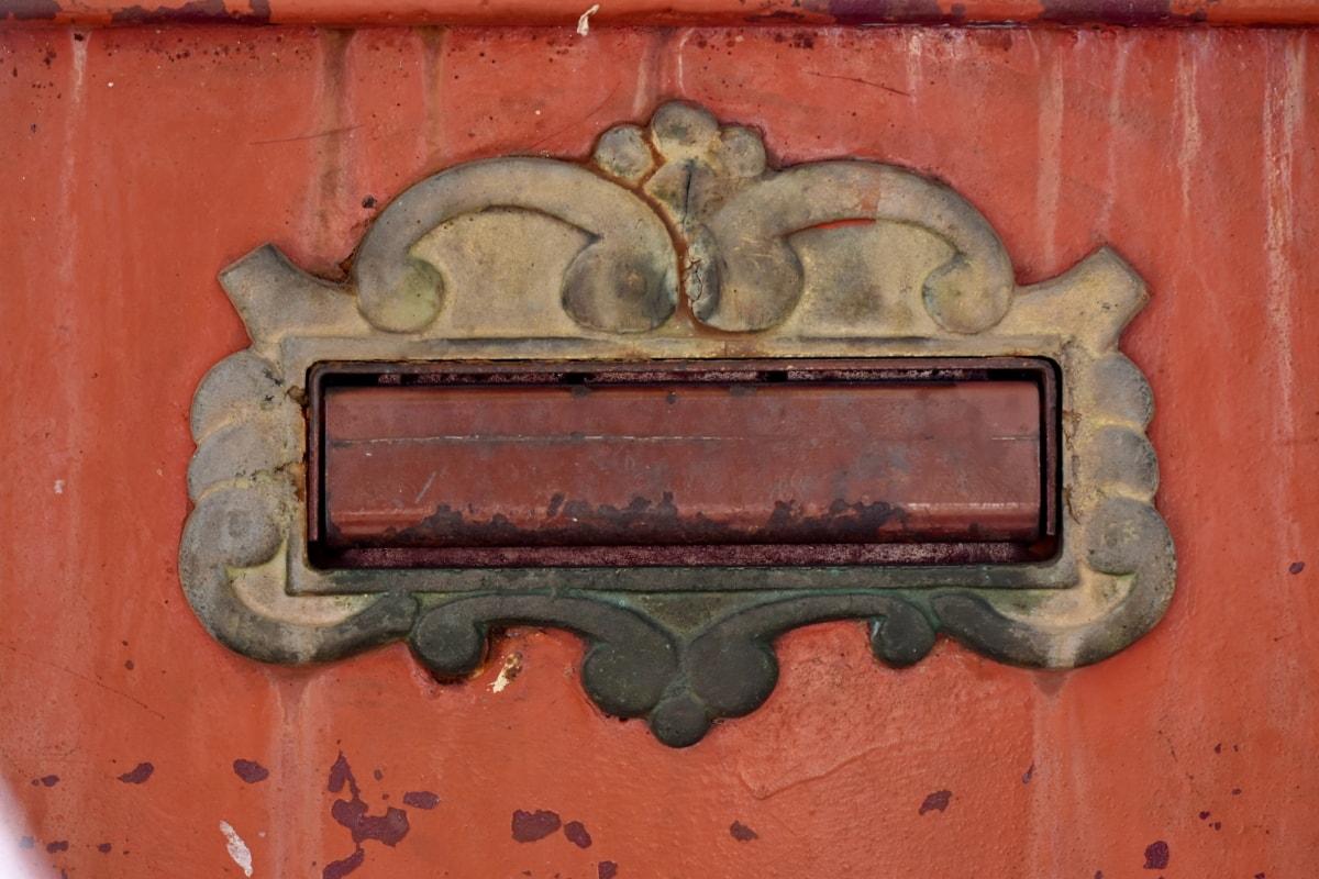 Grunge, fente de courrier, boîte aux lettres, Metal, rouille, fer, décoration, texture, vieux, art