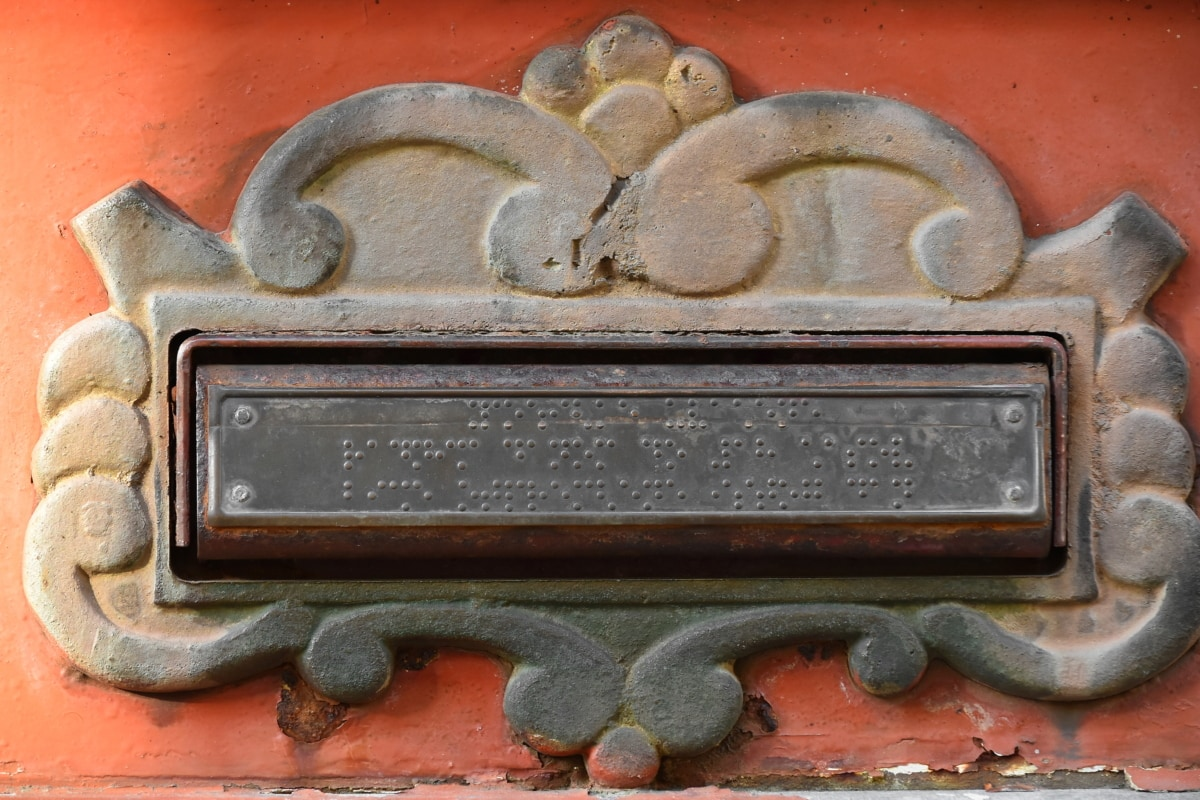 cast iron, mail slot, mailbox, old fashioned, traditional, decoration, old, art, texture, iron