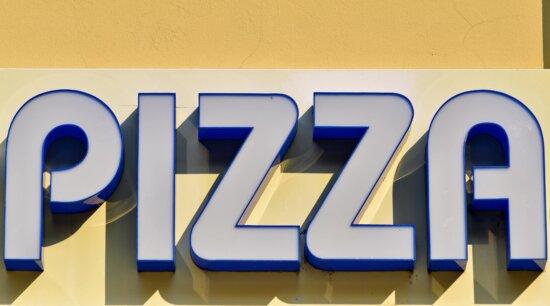 reklame, markedsføring, pizza, tegn, nummer, typografi, alfabetet, tekst, kommersielle, handel
