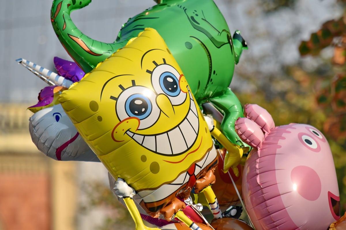 léggömb, Karnevál, Fesztivál, hélium, napsütés, játékok, játék, szórakozás, állat, mosoly