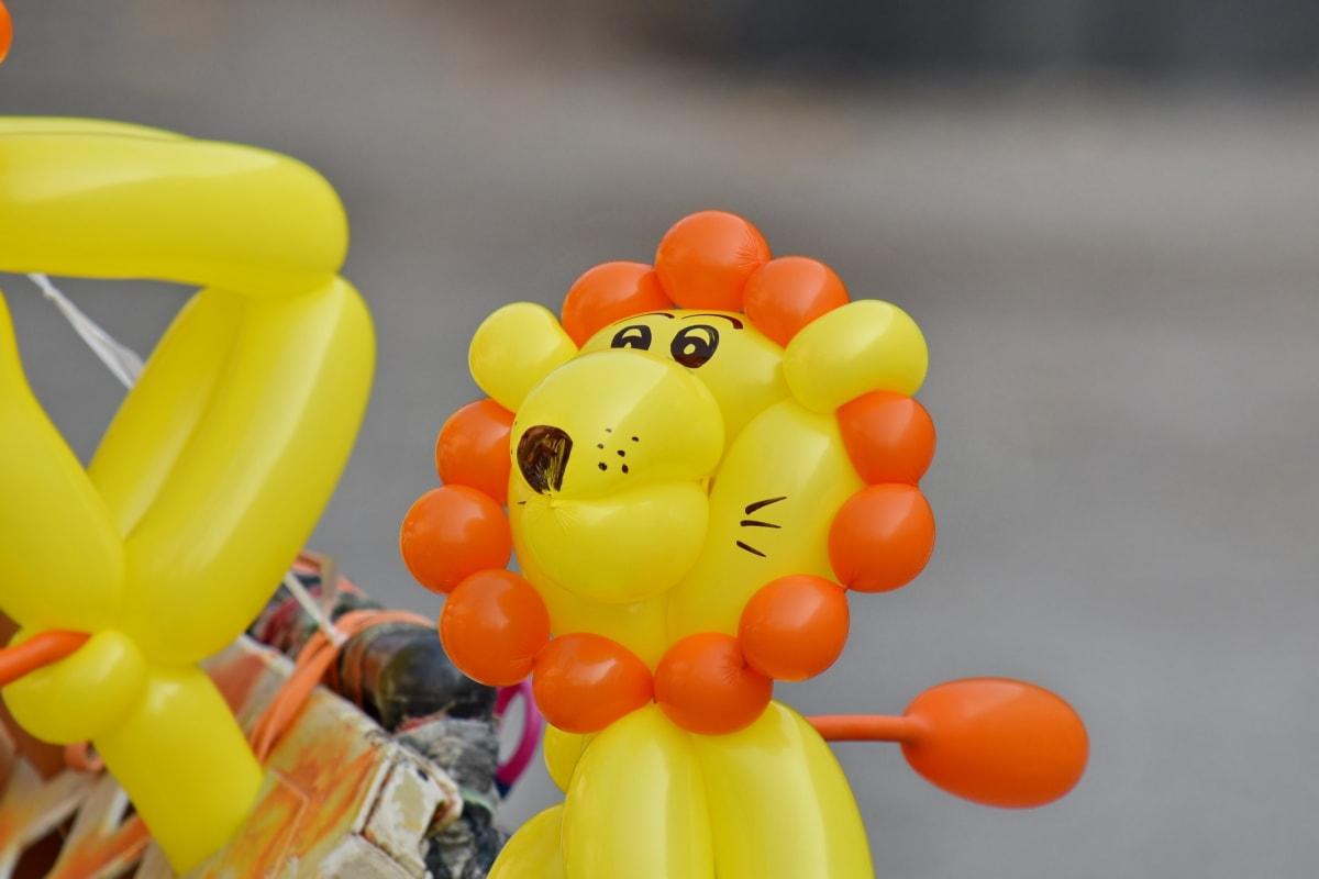 balloon, helium, lion, toys, toyshop, colorful, fun, toy, plastic, color
