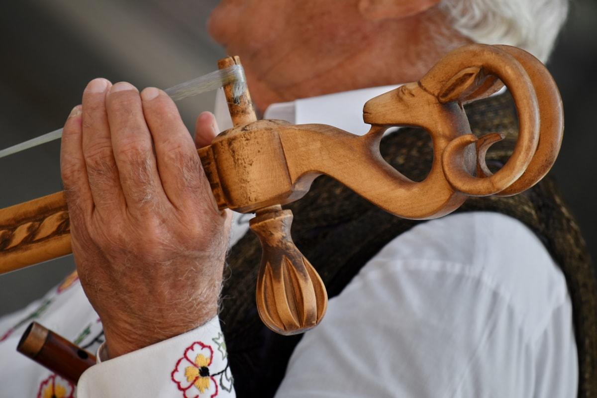 akustisk, håndlaget, hender, hjemmelaget, instruksjon, musikk, ytelse, Serbia, ferdighet, tradisjonelle