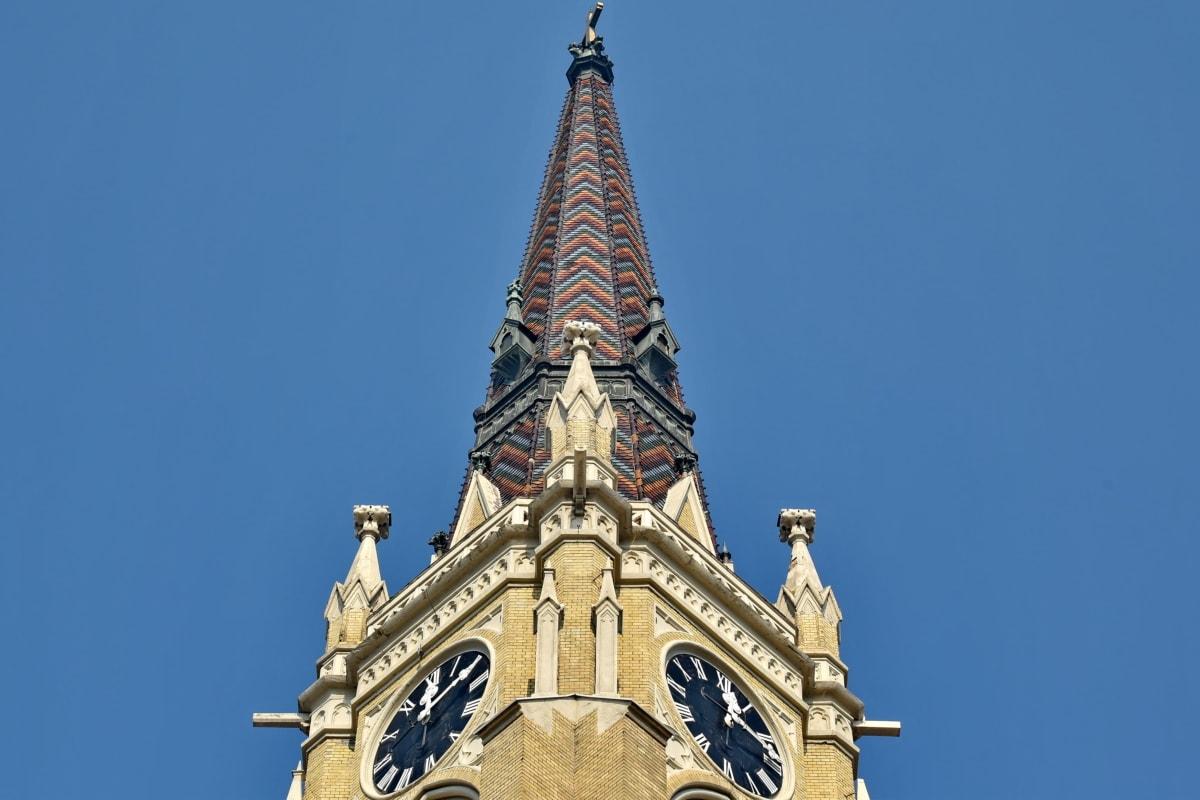 Барокко, Башня церков, Готика, Ориентир, Крыша, крыша, Сербия, Архитектура, Построение, Башня