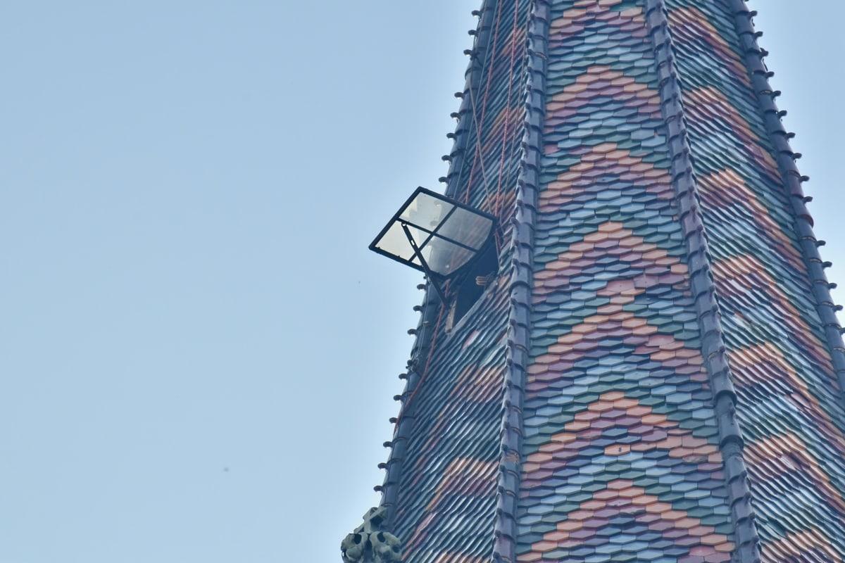 Turnul Bisericii, colorat, mare, gresie, fereastra, Turnul, urban, oraș, arhitectura, proiectare