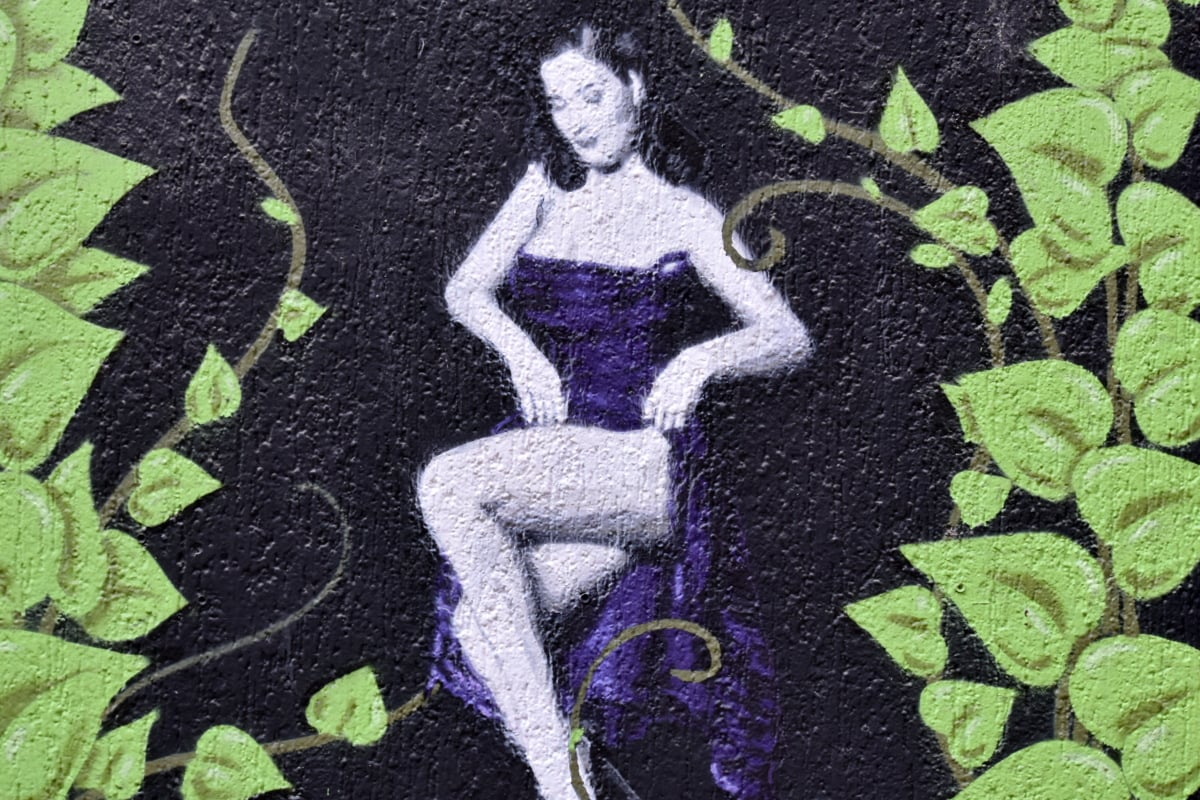 Graffiti, rue, vandalisme, mur, art, femme, urbain, texture, symbole, signature