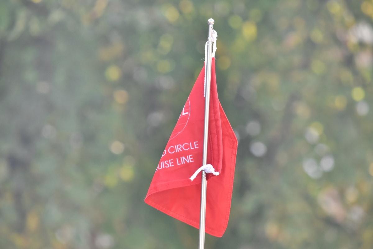 Grb, štap, zastava, vertikalno, na otvorenom, vješanje, priroda, lijepo vrijeme, ljeto, vjetar