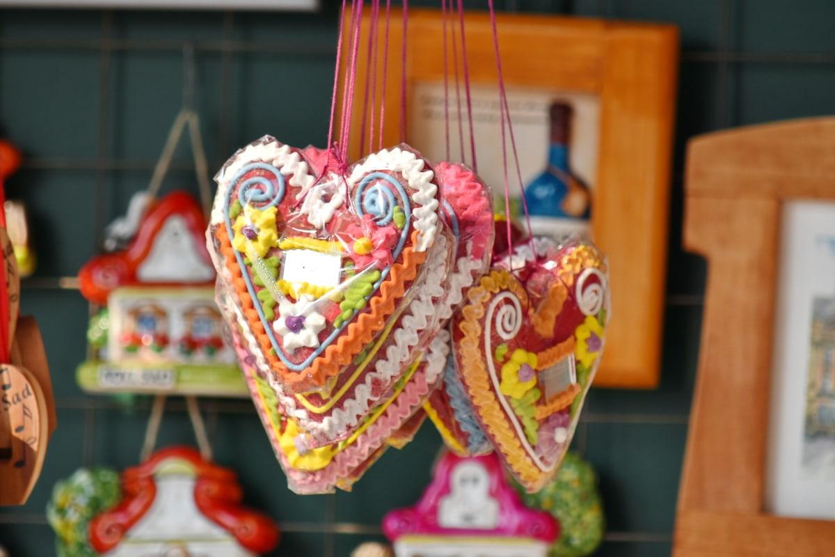 décoratifs, suspendu, coeurs, amour, souvenir, romance, La Saint-Valentin, traditionnel, à la main, décoration