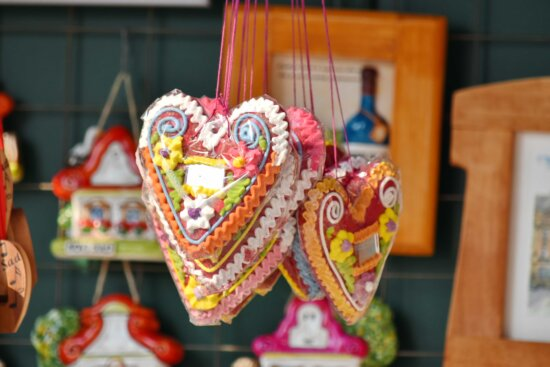 decorative, hanging, hearts, love, remembrance, romance, Valentine's day, traditional, handmade, decoration
