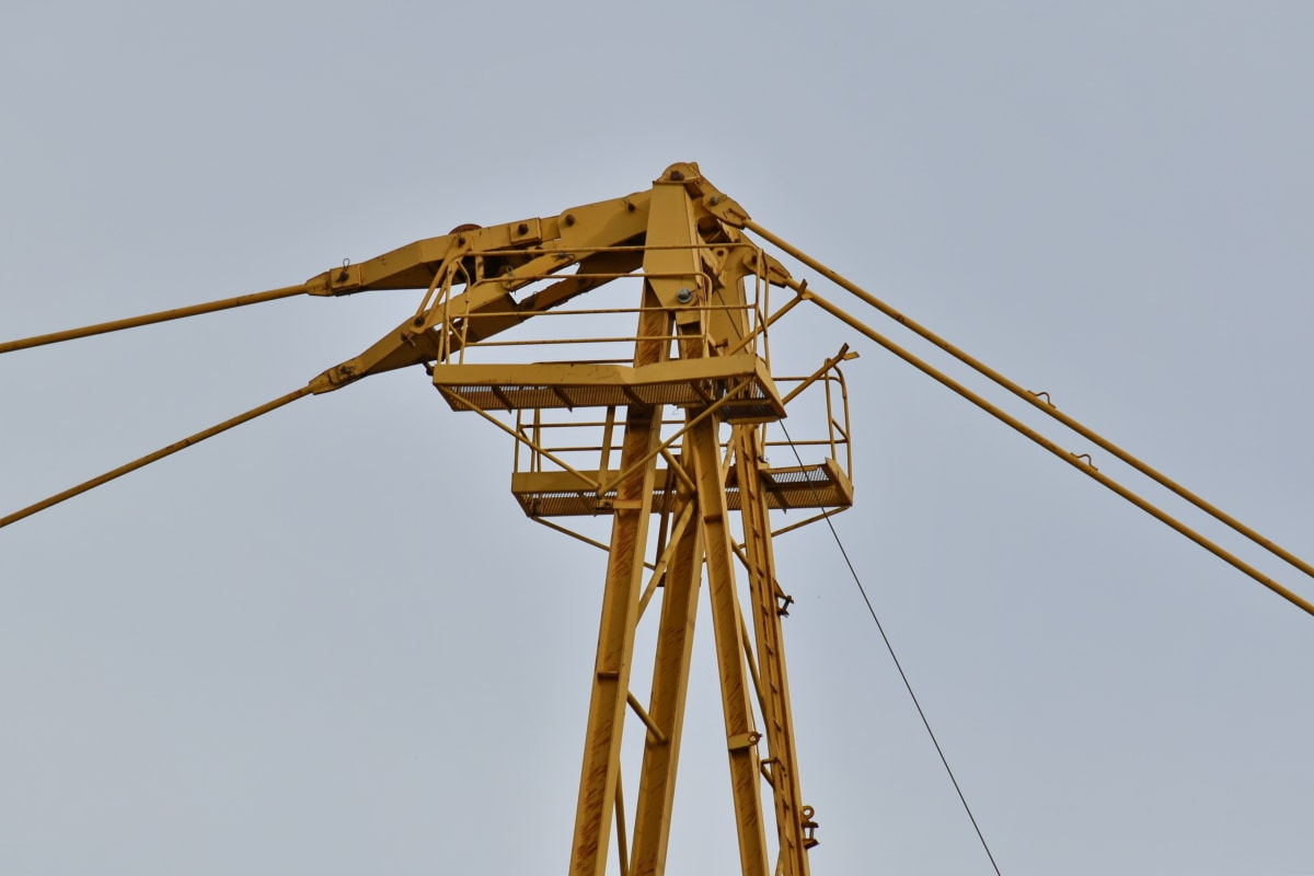 industry, crane, high, device, wire, cable, industrial, steel, technology, equipment