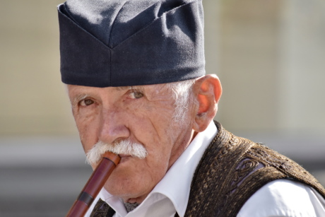 man, musician, pensioner, Serbia, traditional, people, portrait, person, elderly, music