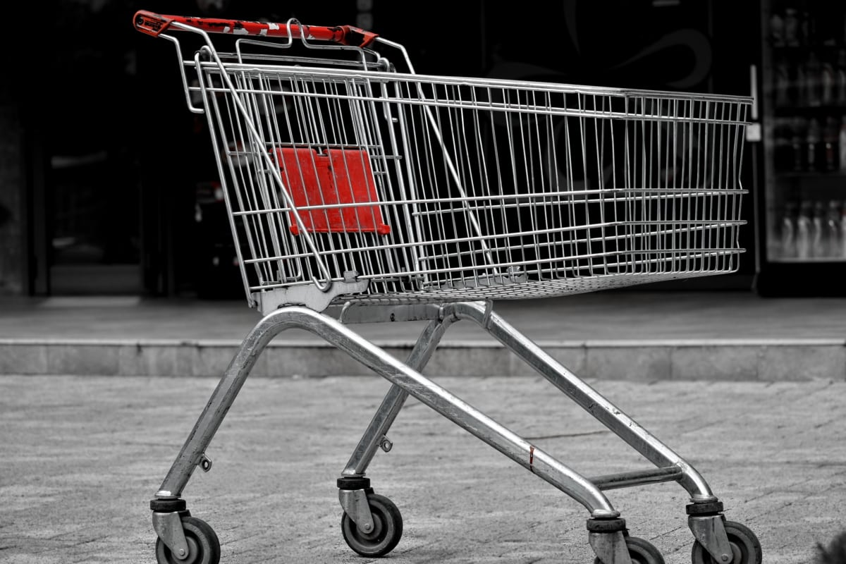 shop, supermarket, handcart, cart, container, shopping, buy, stock, commerce, market