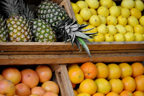 citrus, orange, produce, fruit, pineapple, food, lemon, market, healthy, basket