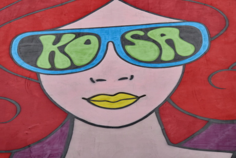 colorful, face, graffiti, illustration, old fashioned, symbol, woman, art, painting, artistic