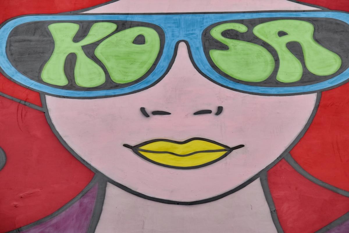 art, colorful, face, graffiti, visuals, woman, decoration, painting, illustration, color