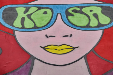 art, colorful, face, graffiti, visuals, woman, decoration, painting, illustration, color