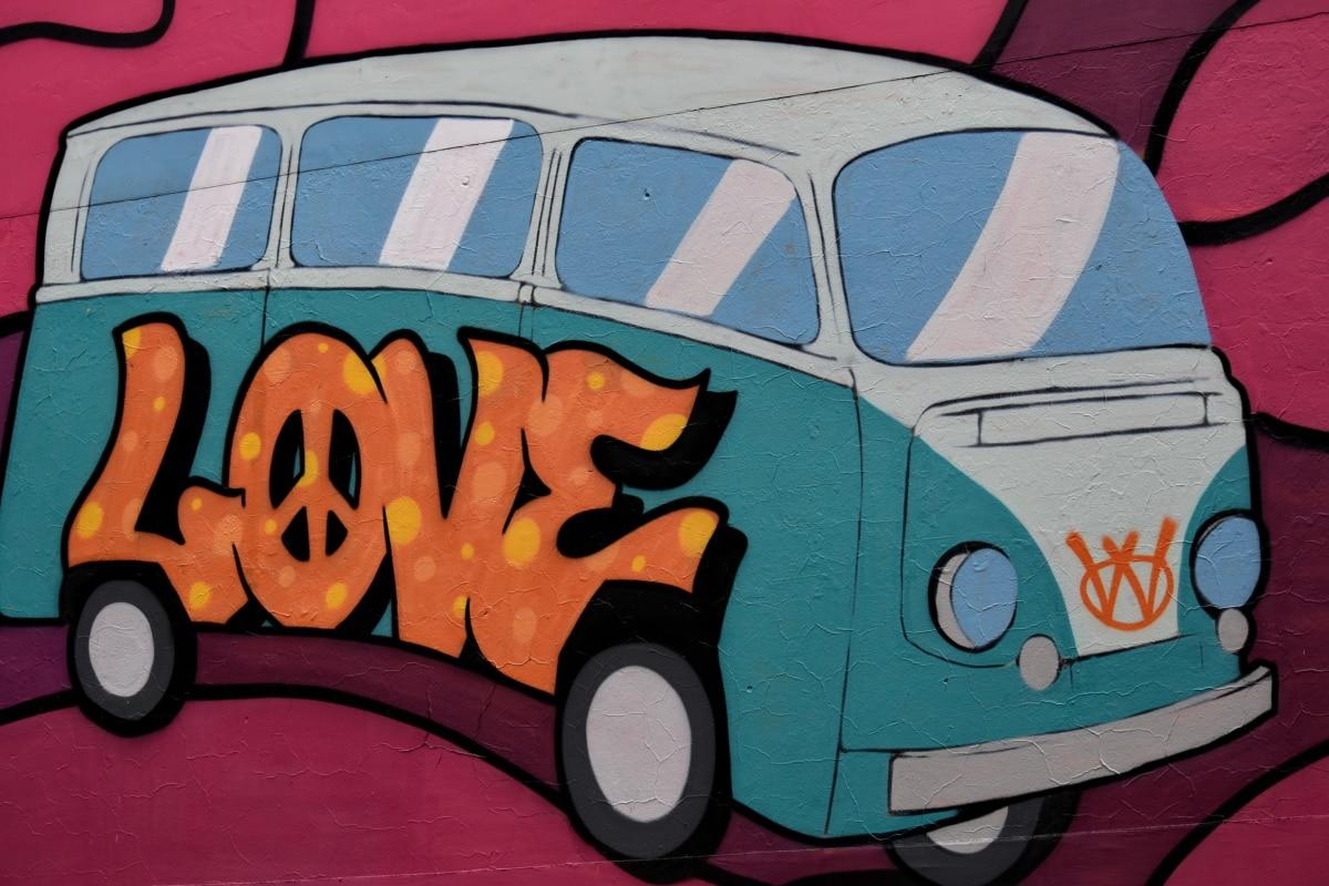 graffiti, stil vechi, schita, vehicul, masina, rulote şi autorulote, transportul, automobile, transport, arta