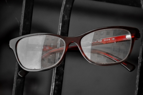 eyeglasses, frame, glass, red, eyewear, glasses, lens, retro, classic, reflection