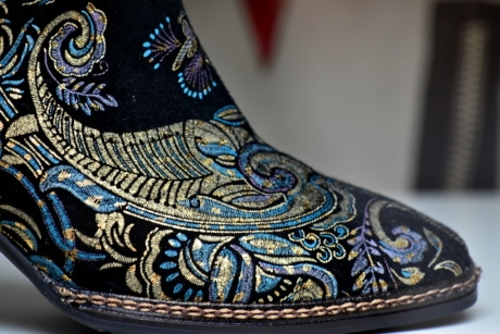 boot, colorful, fashion, handmade, leather, sewing, shoe, traditional, shoes, clothing