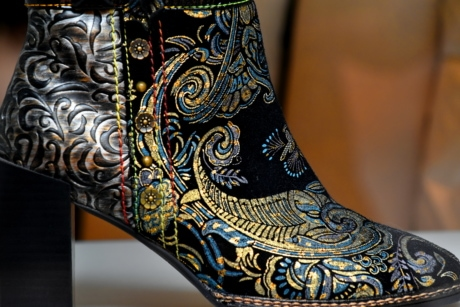 arabesque, boot, colorful, craft, fashion, handmade, heels, sewing, traditional, art