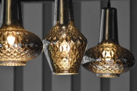 chandelier, golden glow, golden shiner, interior decoration, interior design, shining, glass, antique, luxury, retro