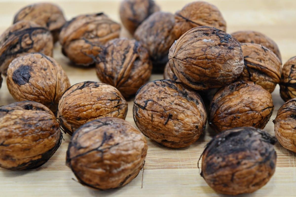 agriculture, kernel, nutshell, organic, tasty, walnut, wood, fruit, food, brown