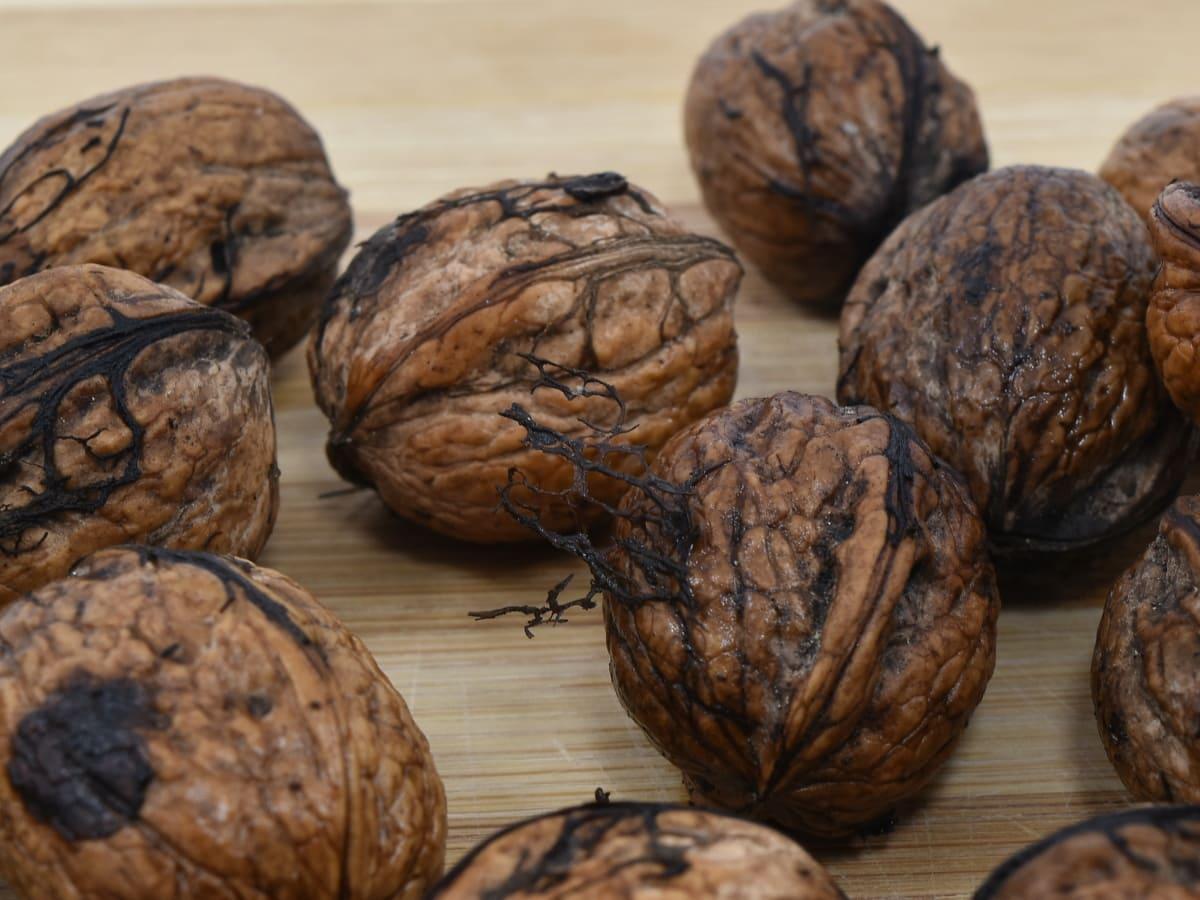 brown, dark, dirty, fruit, organic, walnut, seed, food, ingredients, nutrition