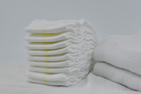 cottage, diaper, hygienic, towel, hygiene, cotton, still life, purity, health, white