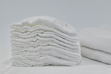cotton, diaper, many, organic, hygiene, towel, pile, still life, stacks, canvas