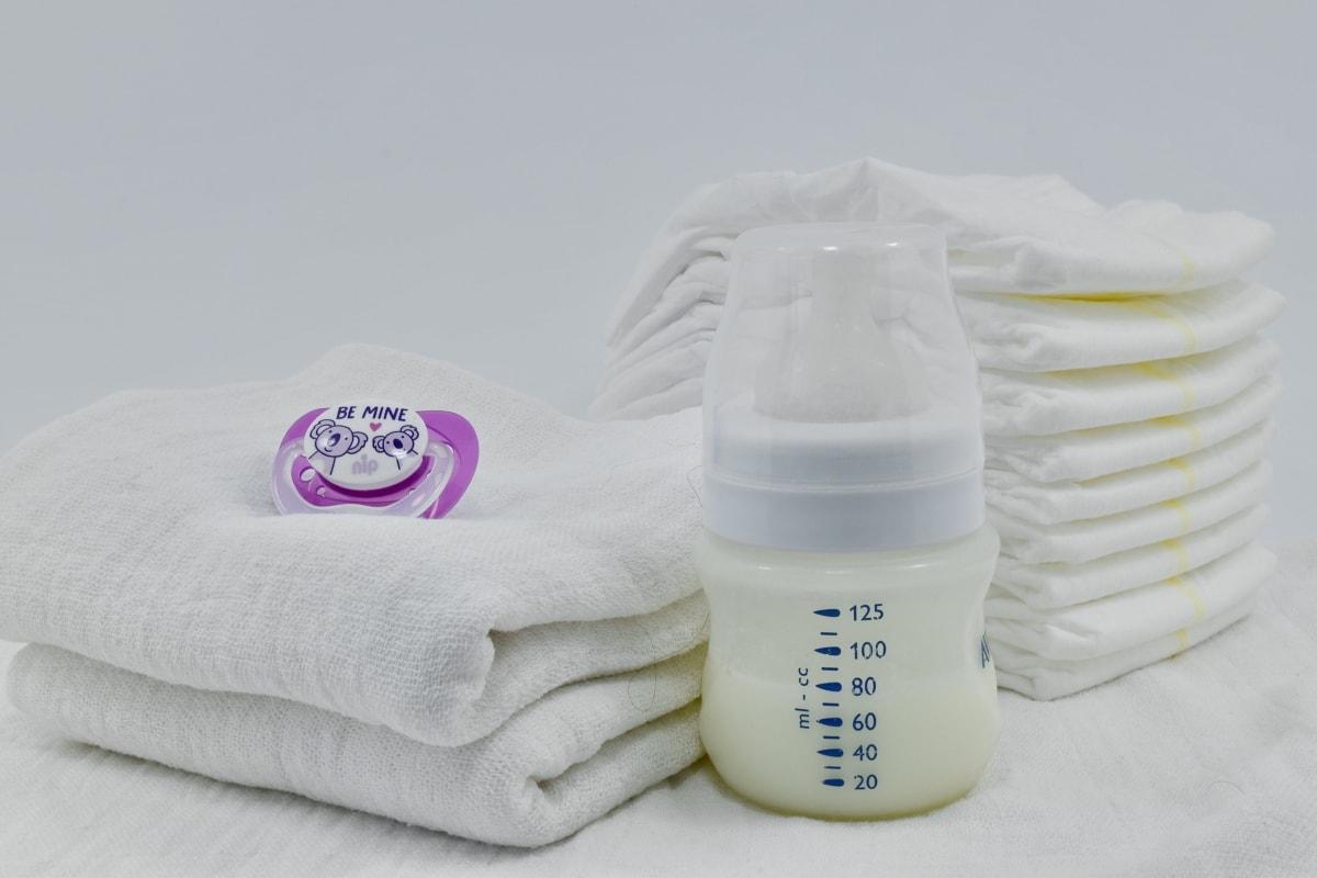 Baumwolle, Windel, Milch, Neugeborenen, Spielzeug, Handtuch, Behandlung, Flasche, Hygiene, Bad