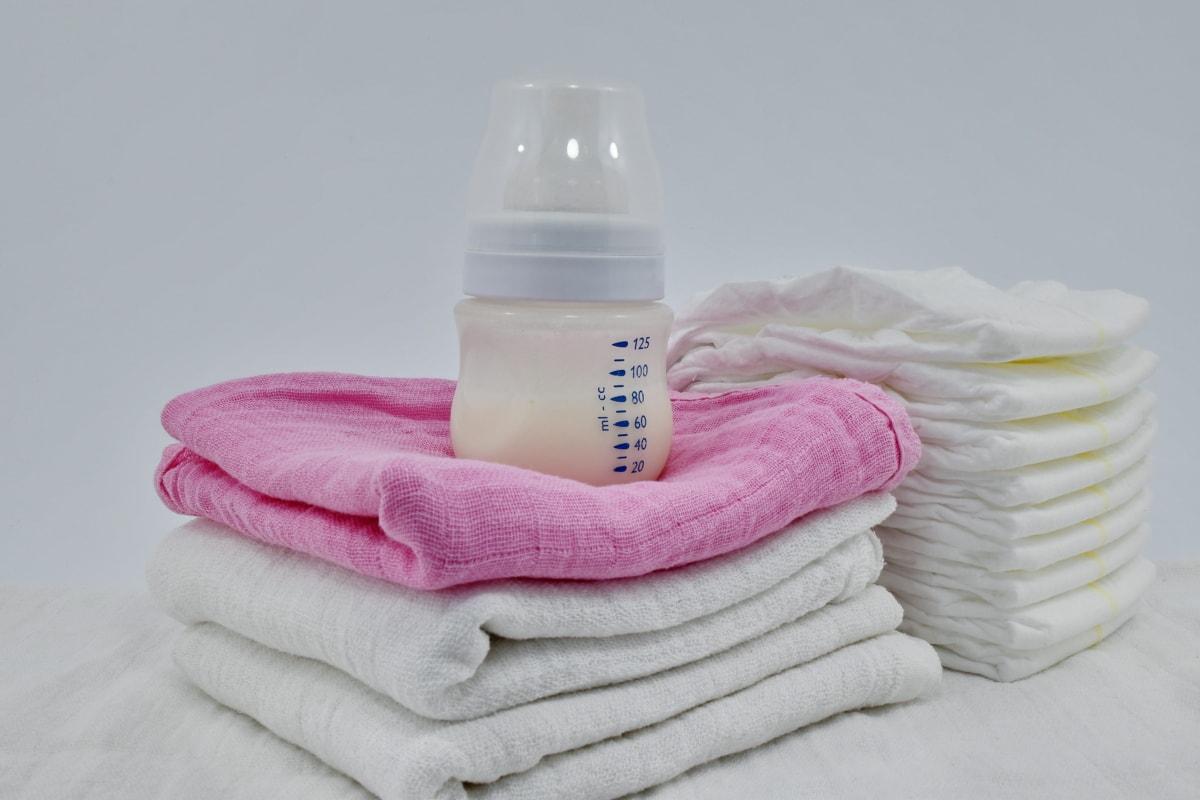 Baby, bleie, melk, organisk, tekstil, hygiene, håndkle, toalettsaker, helsetjenester, omsorg