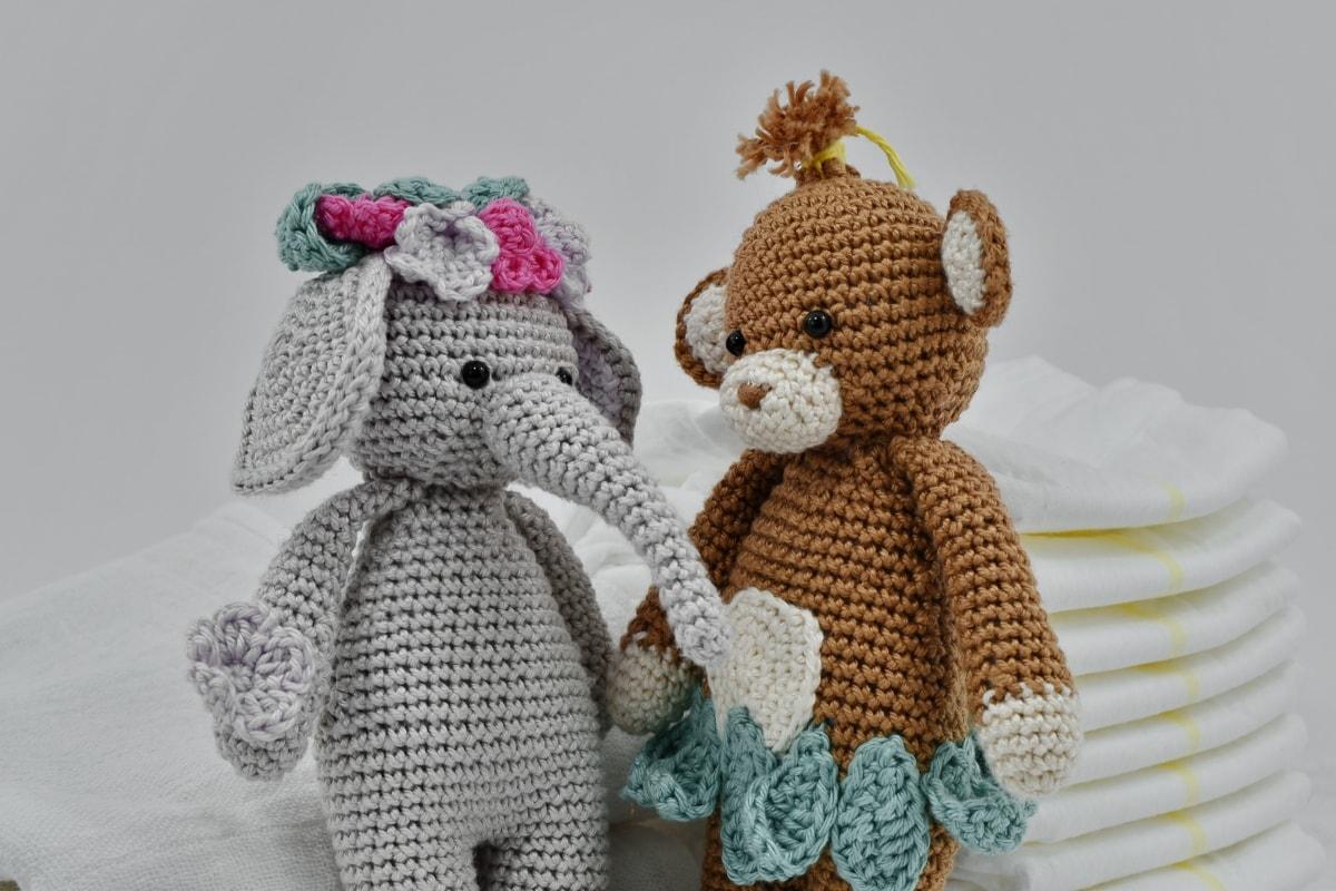 diaper, dolls, elephant, handmade, knitwear, teddy bear toy, toys, doll, toy, christmas