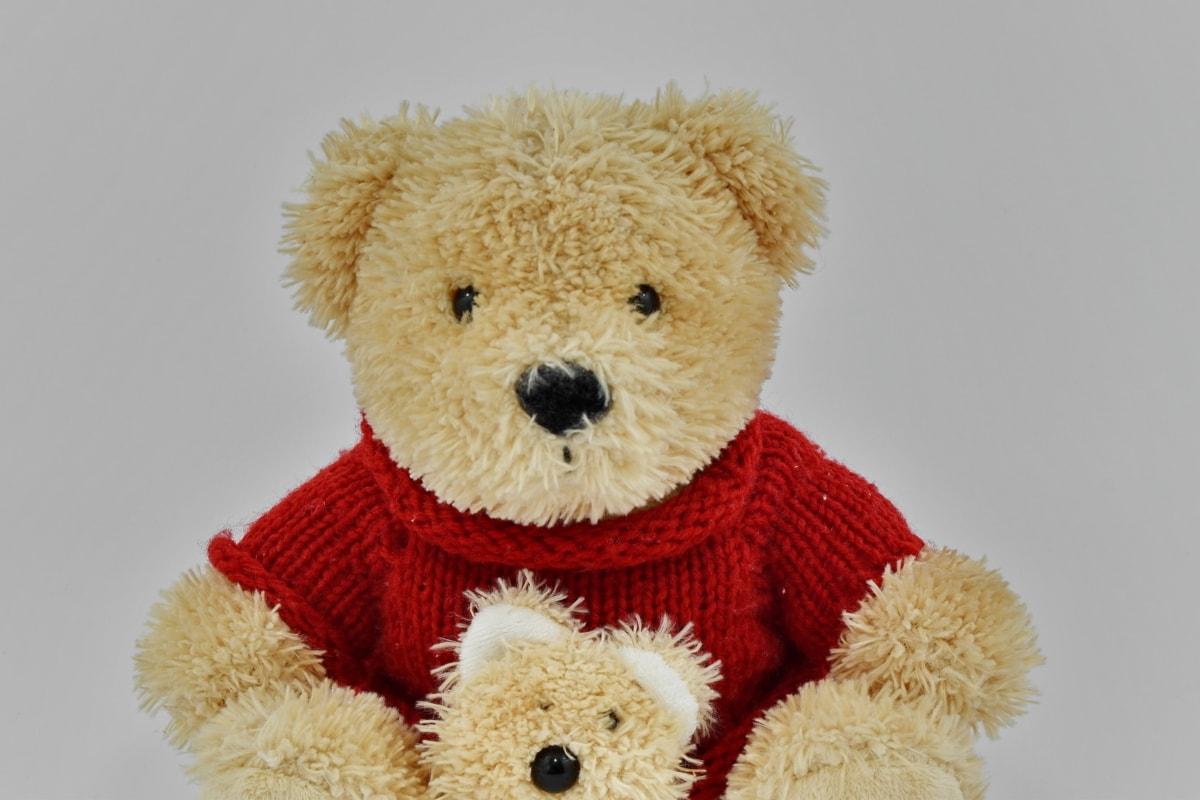 handgefertigte, Strickwaren, Pullover, Teddybär Spielzeug, Wolle, Bär, Spielzeug, Geschenk, weiche, Pelz